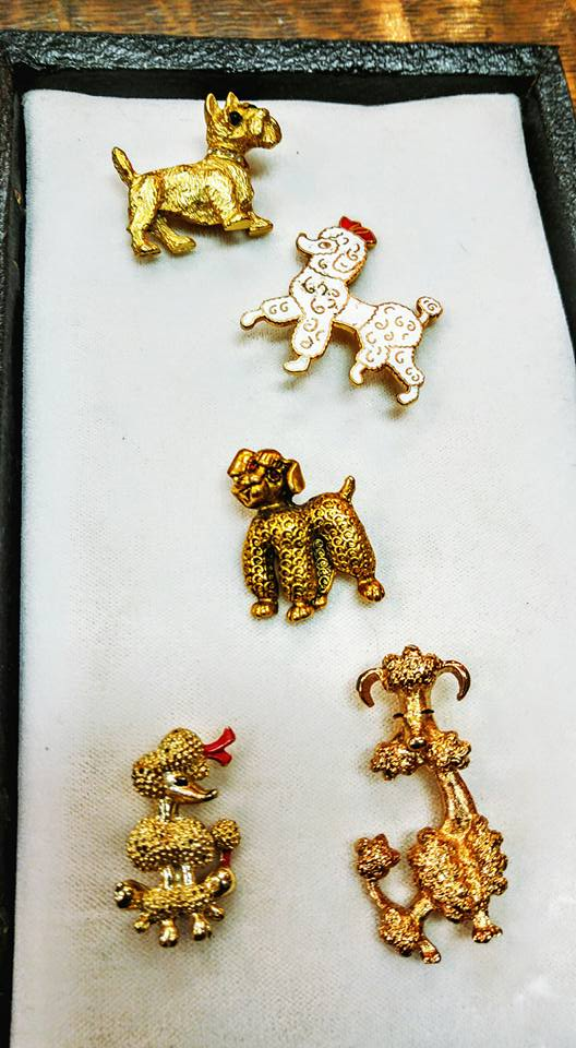 stuff for sale vintage dog pins brooches jewelry fort