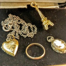 Tiny Treasures, 10K Baby ring, Eiffel Tower, Cameos, Lockets & more. Antiques fort worth