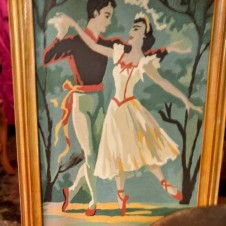 Ballet Dance Paint by Number vintage painting, vintage fort worth