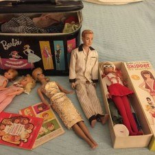 Early Barbie Ken Dolls, Clothing, Case. 1960s Barbie Fort Worth