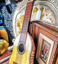 Charango, Armadillo shell guitar, Vintage Fort Worth Musical Instruments
