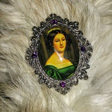 vintage portrait  Brooch Pin, Antique Jewelry Fort Worth