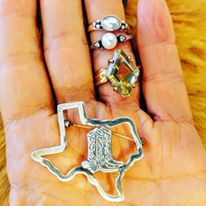 Sterling Texas Pin