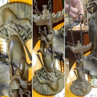 Antique Bronze Cupid Dolphin Octopus, Antiques Fort Worth