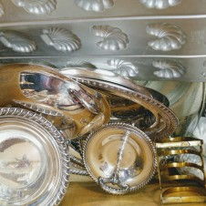 Vintage copper and silver plate