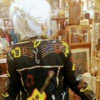 Guitar 1980s Music vintage Jacket
