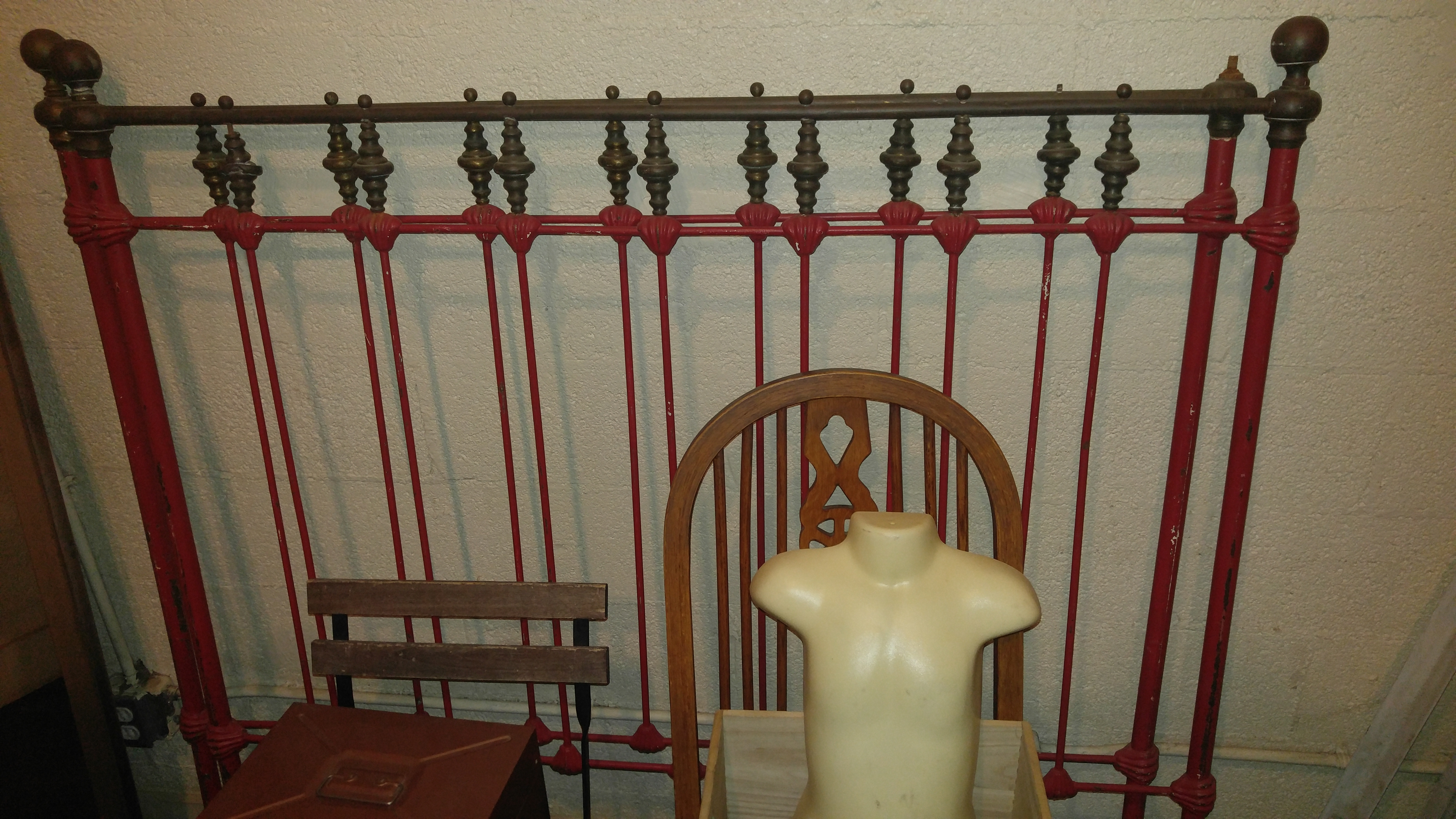 Antique Cast Iron Bed with Rails